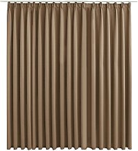 Blackout Curtain with Hooks Taupe 290x245 cm