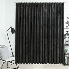 Blackout Curtain with Hooks Velvet Anthracite
