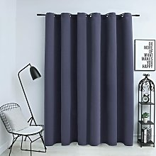 Blackout Curtain with Metal Rings Anthracite