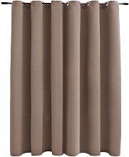 Blackout Curtain with Metal Rings Taupe 290x245 cm