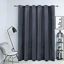 Blackout Curtain with Metal Rings Velvet