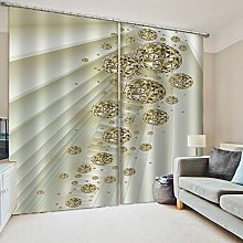Blackout Curtains-3D Printed European Luxury Ball