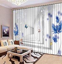 Blackout Curtains-3D Printed Space Corridor