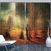 Blackout Curtains-3D Printed Sunny Landscape