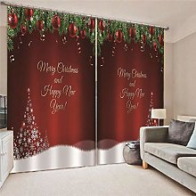 Blackout Curtains Alphabet Christmas Tree Living