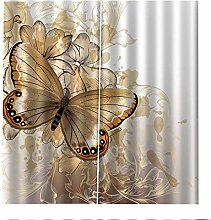 Blackout Curtains Brown Butterfly Animal Window