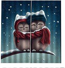 Blackout Curtains Cartoon Owl Window Curtain