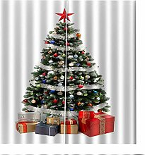 Blackout Curtains Christmas Tree Gifts Window