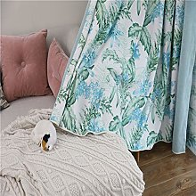Blackout Curtains Flower Plant Printed Opaque