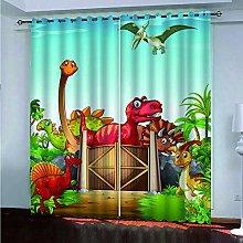 Blackout Curtains for Bedroom Dinosaur Animal