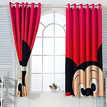 Blackout Curtains for Bedroom Mic-key Min-nie
