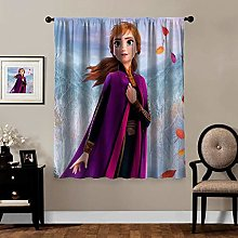 Blackout Curtains,Frozen 2 Anna (3), rod pocket