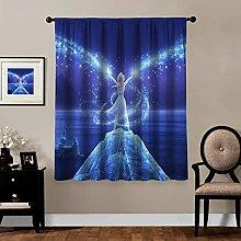 Blackout Curtains,Frozen 2 Elsa (11), rod pocket