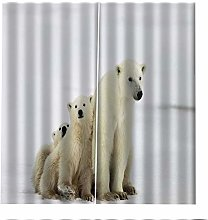 Blackout Curtains Polar Bear Snow Window Curtain