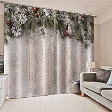 Blackout Curtains Red ball with branches and
