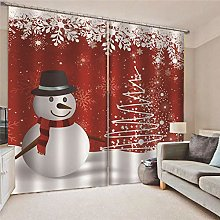 Blackout Curtains Snowman with snowflakes Living