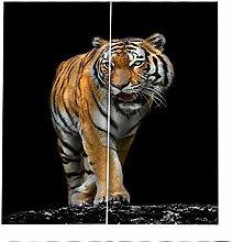Blackout Curtains Tiger Animal Window Curtain