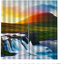Blackout Curtains Waterfall Sunset Window Curtains