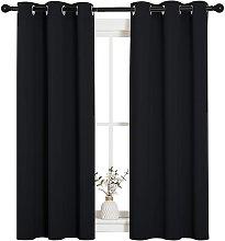Blackout Draperies Window Curtain Panels,