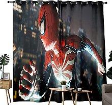 Blackout Drapes Marvel Spiderman Game For Bedroom