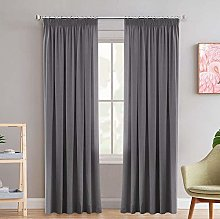 Blackout Thermal Insulated Frost Grey Curtain
