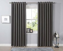 Blackout Thermal Luxury Plain Curtains Eyelet Top