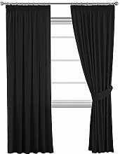 Blackout Thermal Pencil Pleat Curtain Drapes for