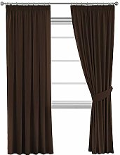 Blackout Wide Pencil Pleat Curtain Drapes for Room