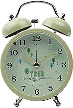 Blan Alarm Clock Metal Clock Creative Silent Night