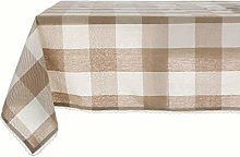 Blanc Mariclo - Beige coated tablecloth with large