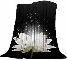 Blanket Blooming Lotus in the Dark Blanket