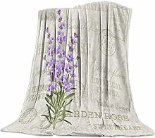 Blanket Lavender Blossom Purple Leaves Blanket
