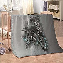 Blanket Motorcycle Flannel Fleece Throw Blankets