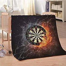Blankets Darts Flame Super Soft Flannel Fleece