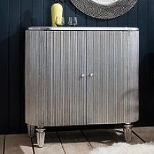 Blarney Bar Cabinet In Grey With Black And