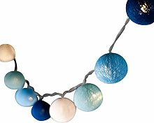 BLAZE ON Ambient Ball Fairy Lights (Blue Tones) -