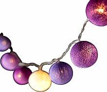 BLAZE ON Ambient Ball Fairy Lights (Purple Tones)