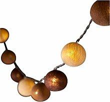 BLAZE ON Ambient Ball Fairy Lights (Rustic Tones)