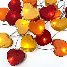 BLAZE ON Radiant Heart Shaped Fairy Lights (Fire
