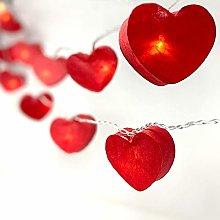 BLAZE ON Radiant Heart Shaped Fairy Lights (Red) -