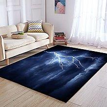 BlessLiving Lightning Storm Area Rug Soft 3D