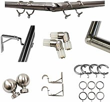 Blinds Outlet Bay Window Chrome Metal Curtain Pole