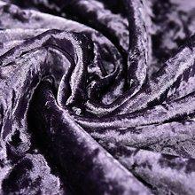 Bling Crushed Velvet Fabric Amethyst Purple -