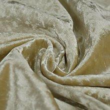 Bling Crushed Velvet Fabric Beige - Ideal for