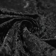 Bling Crushed Velvet Fabric Black - Ideal for