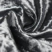 Bling Crushed Velvet Fabric Graphite Grey - Ideal