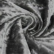Bling Crushed Velvet Fabric Pewter - Ideal for