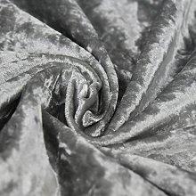 Bling Crushed Velvet Fabric Silver - Ideal for