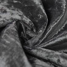 Bling Crushed Velvet Fabric Steel Grey - Ideal for
