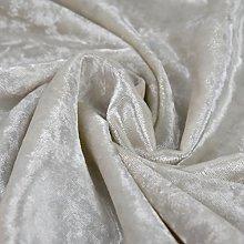 Bling Crushed Velvet Fabric White - Ideal for